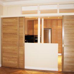 Cuisine sur mesure et rénovation d'un appartement de 126m² à Paris 4e