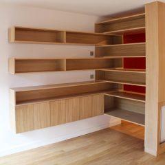 Création du mobilier sur mesure en chêne Paris 75013
